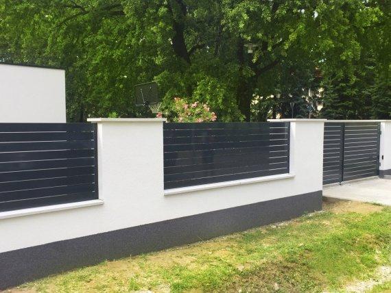 Alumínium kerítésrendszer